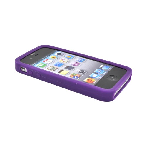 Apple Verizon/ AT&T iPhone 4, iPhone 4S Silicone Case - Purple