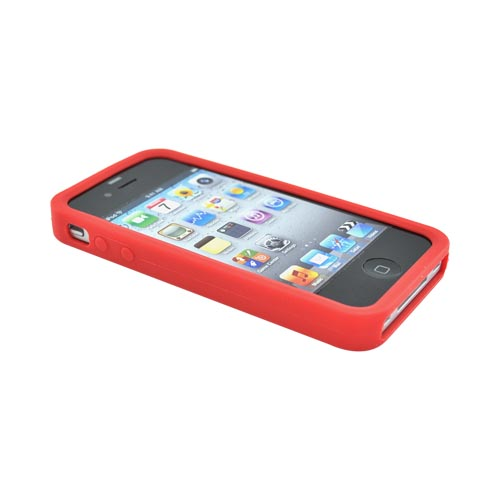 Apple Verizon/ AT&T iPhone 4, iPhone 4S Silicone Case - Red