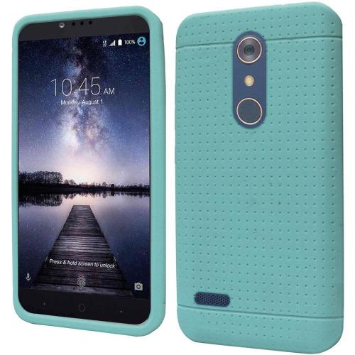 ZTE Z Max Pro Case, Soft & Flexible Reinforced Silicone Skin Case Cover [Mint]