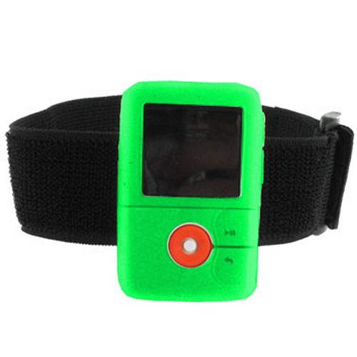 Creative Zen V Silicone Case w/ Belt Clip - Green