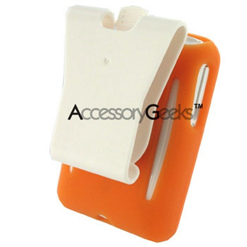 Creative Zen V Silicone Case w/ Belt Clip - Orange