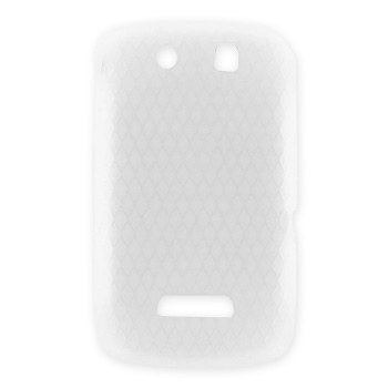 Blackberry Storm 9530 Silicone Case, Rubber Skin w/ Embedded Gems - Frost White