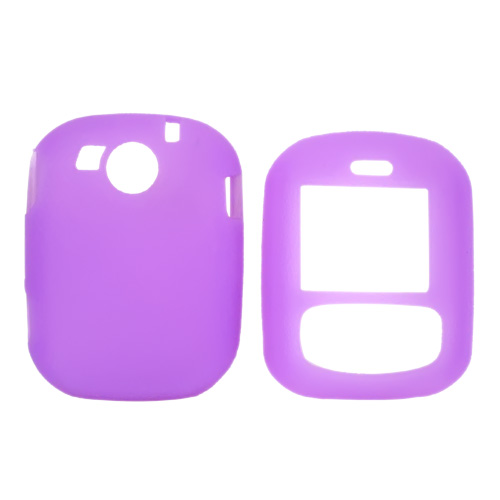 PCD Cricket TXTM8 Leathery Texture Silicone Case, Rubber Skin - Purple