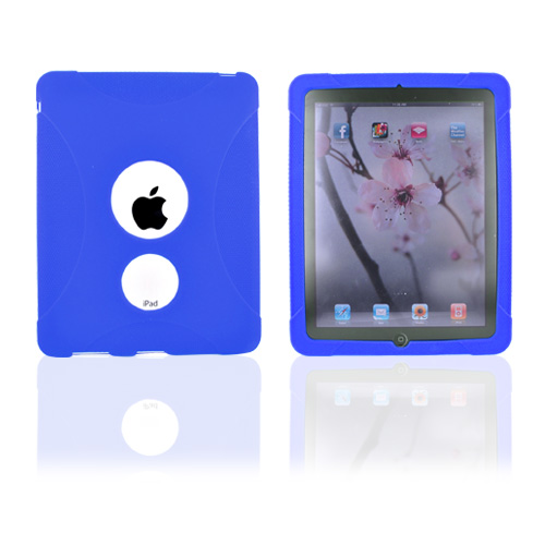 Premium Apple iPad (1st Gen) 1st Silicone Case, Rubber Skin - Blue X Design