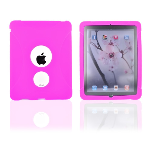 Premium Apple iPad (1st Gen) 1st Silicone Case, Rubber Skin - Pink X Design