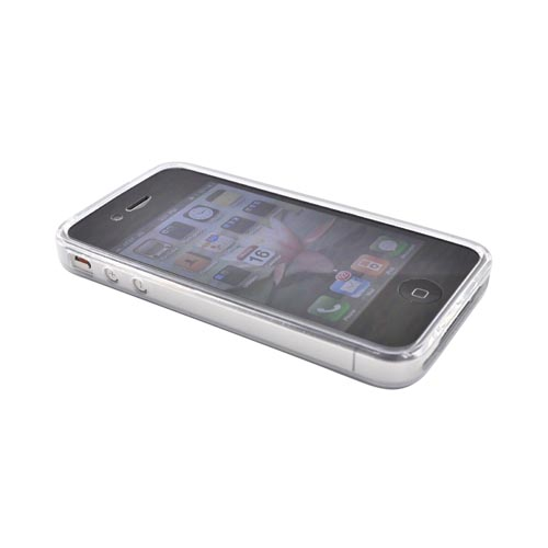Premium Apple iPhone 4 Silicone Case, Rubber Skin - Frost White