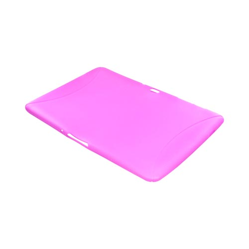 Samsung Galaxy Tab 10.1 Crystal Silicone Case w/ Textured Ends - Pink