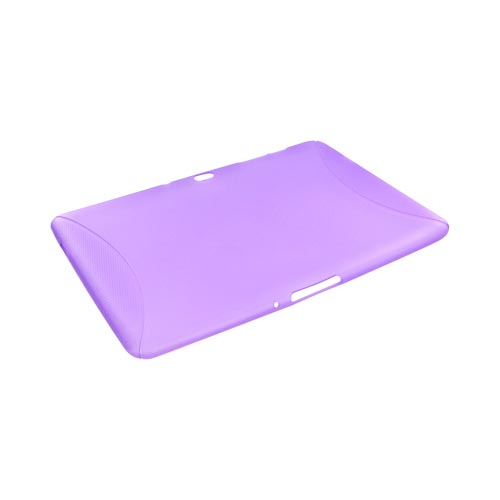Samsung Galaxy Tab 10.1 Crystal Silicone Case w/ Textured Ends - Purple