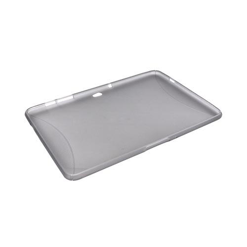 Samsung Galaxy Tab 10.1 Crystal Silicone Case w/ Textured Ends - Smoke