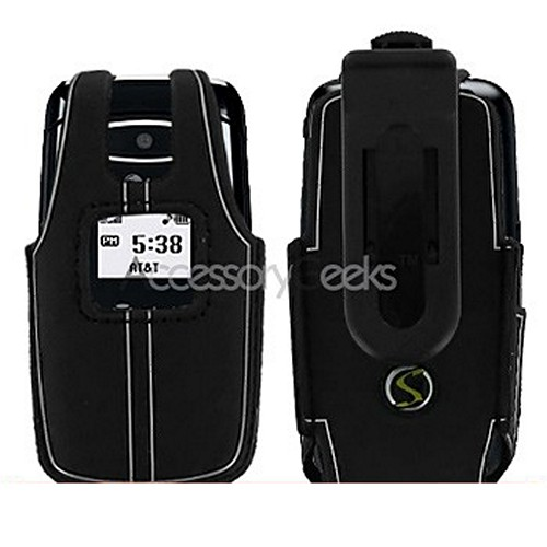 LG CE110 Water Suit Case w/ Belt Clip - Black w/ Silver Trim