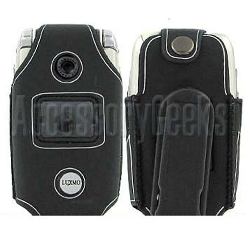Samsung A840 Water Suit Cellphone Case - Black with Silver Trim
