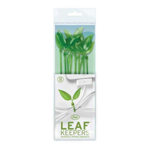 Fred & Friends Leaf Keepers - Deciduous Desktop Organaizers (Packed 12 Leafy Cable Ties)