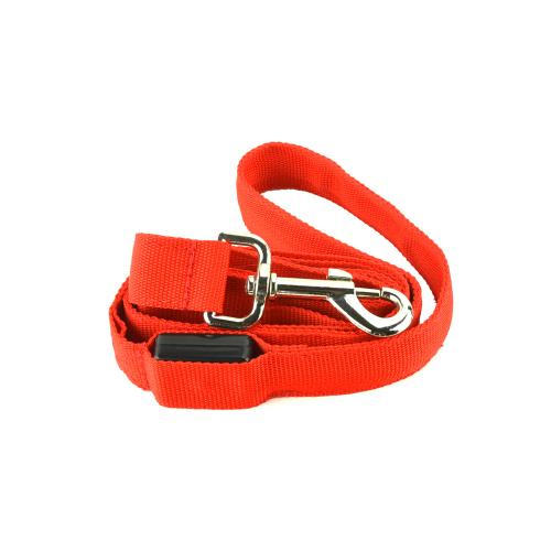 "Red Nylon Universal Double Sided LED 48"" Light up Leash - Provides Great Safety!"