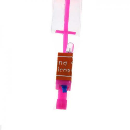 Ultra Light LED Arrow Rocket Helicopter Flying Toy [Red]