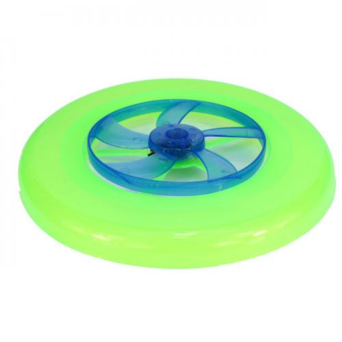 Ultra Light Hot Spin LED Disc Frisbee Flying Toy [Green]