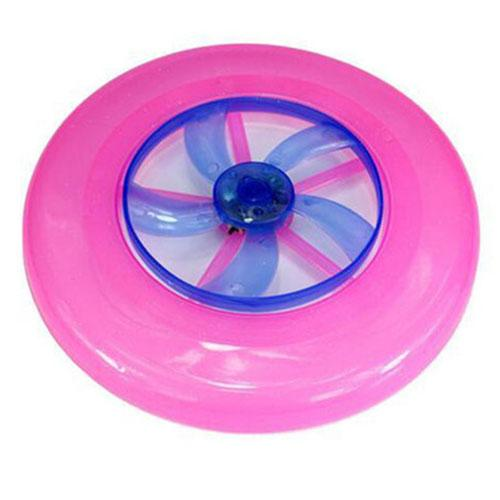 Ultra Light Hot Spin LED Disc Frisbee Flying Toy [Pink]