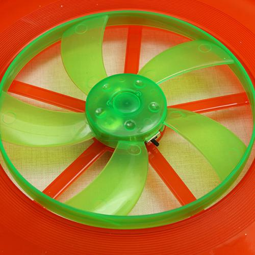 Ultra Light Hot Spin LED Disc Frisbee Flying Toy [Red]