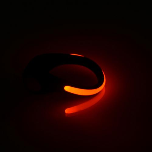 LED Luminous Shoe Clip [Black/Red] Bright Flash Light For Running, Cycling etc. - 2 Pack