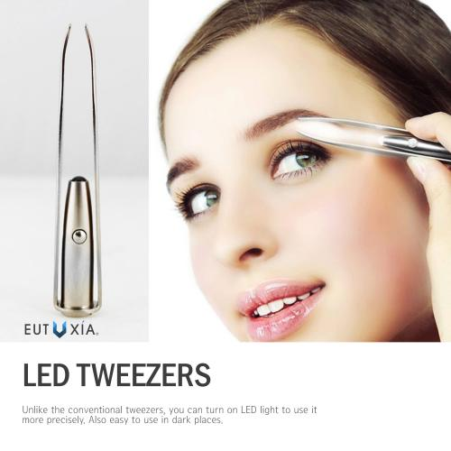 REDshield LED Tweezers Beauty Tool for Hair Removal [2PK]