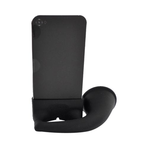 Original Bone Collection Apple AT&T iPhone 4/Verizon iPhone 4 Silicone Horn Stand Case, LF10021-BK - Black