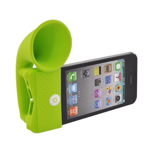 Original Bone Collection Apple AT&T iPhone 4/Verizon iPhone 4 Silicone Horn Stand Case, LF10021-G - Green