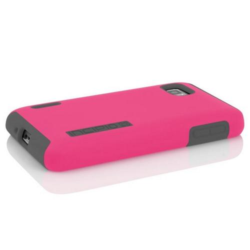 Incipio Hot Pink/ Gray Dual PRO Series Rubberized Hard Case on Silicone for LG Optimus F3 - LGE-199