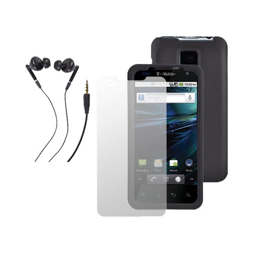 T-Mobile G2X Essential Bundle Package w/ Black Hard Case, Screen Protector and Universal Headset