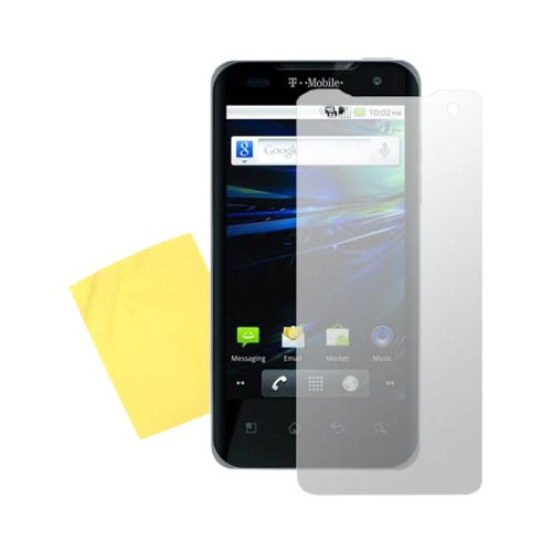 T-Mobile G2X Essential Bundle Package w/ Clear Hard Case, Screen Protector and Leather Pouch