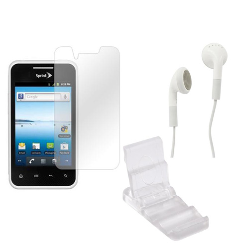 Lg Optimus Elite Package W/ Dicapac Waterproof Phone Case, Anti-glare Screen Protector, Solar Charger, 3.5mm Earbuds,  Portable Keychain Kick Stand