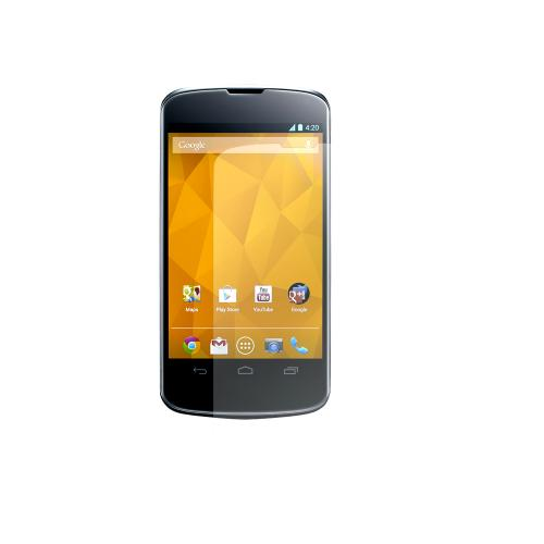 LG Nexus 4 Essential Bundle Package w/ Black Rubberized Hard Case, Screen Protector, Leather Pouch, Car & Travel Charger