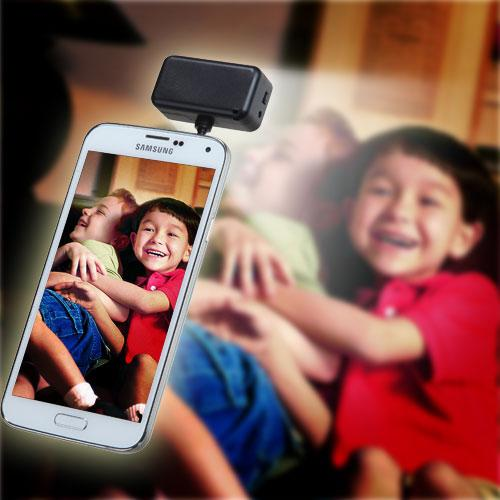 Black Portable Smartphone Spotlight [3.5mm] - Take the Perfect Selfie!