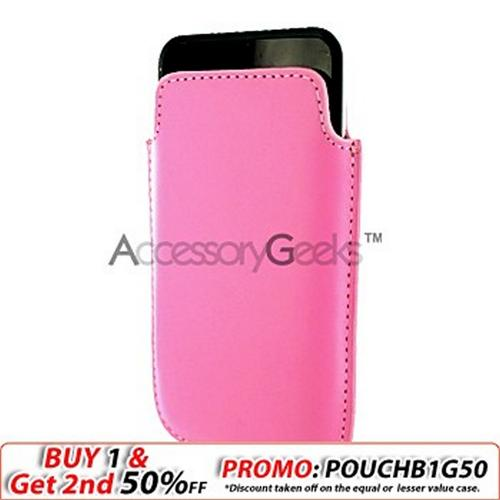 Apple iPhone/iPod Touch Leather Pocket - Baby Pink