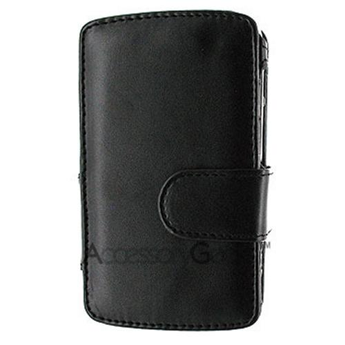 Motorola Q Book-Type Leather Case - Black