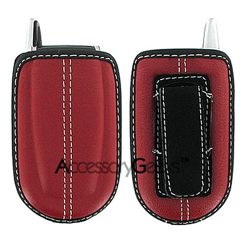 Red EVA Leather Phone Pouch (FS)