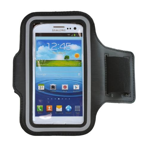 Black Sweat-Proof Neoprene Armband Case w/ Velcro Closure for Samsung Galaxy S4