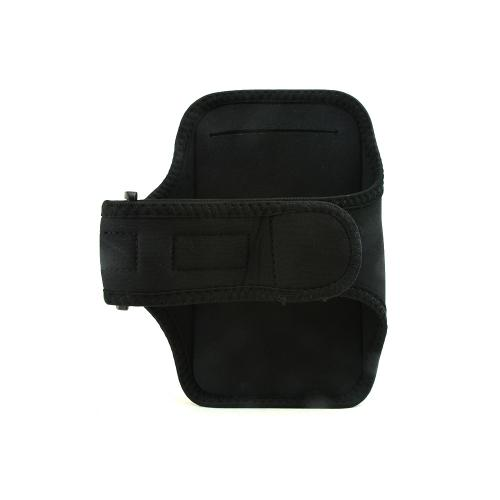 Black Sweat-Proof Neoprene Armband Case w/ Velcro Closure for Samsung Galaxy Note 1/2/3