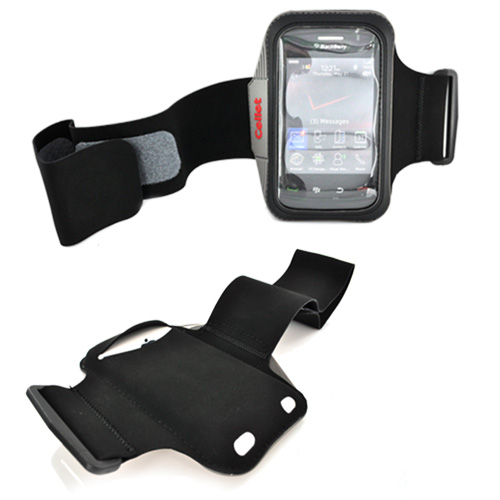 Neoprene Armband Case for Cell Phones, iPhone, Blackberry, & MP3 Players - Black
