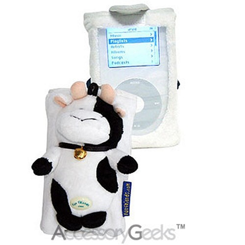 Fun Friends Daisy Cow iPod Case - Black & White