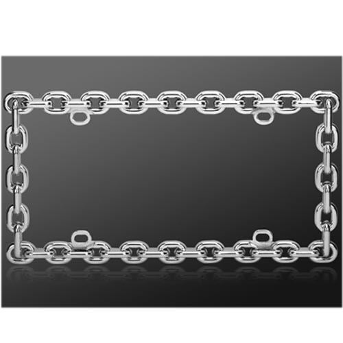 Universal License Plate Frame - Chrome Chain