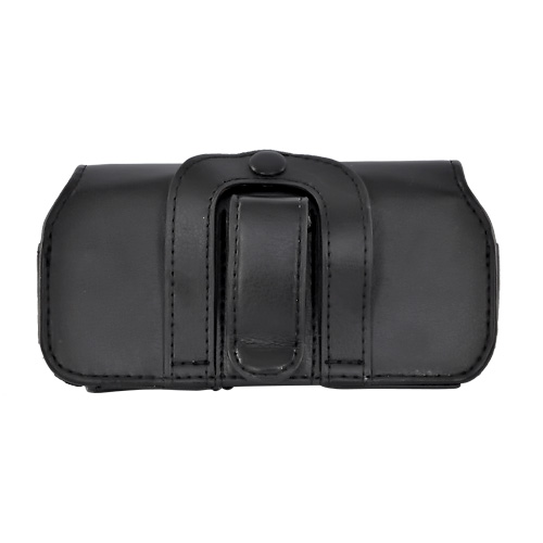 Black Horizontal Leather Pouch (BUT)