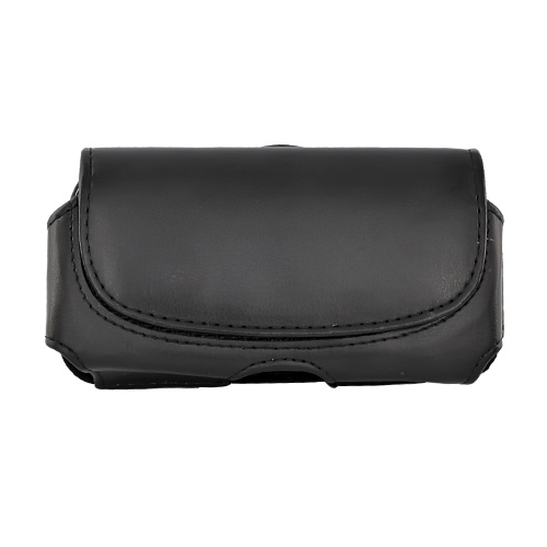 Universal Black Horizontal Leather Pouch (BUT)