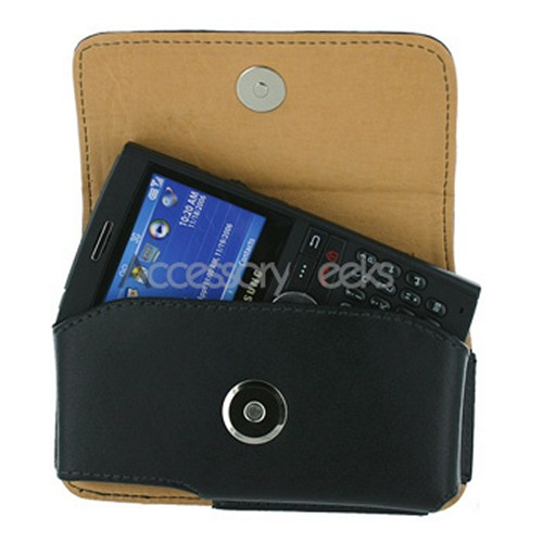 LG Dare VX9700 Horizontal Leather Pouch w/ Belt Clip - Black