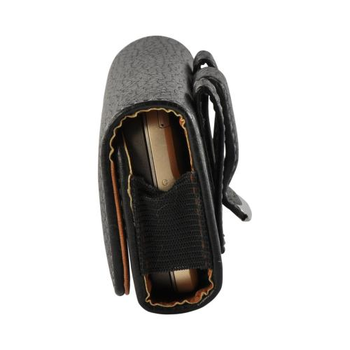Black Horizontal Holster Pouch w/ Magnetic Closure & Belt Clip for LG Voyager Sized Phones (BL)