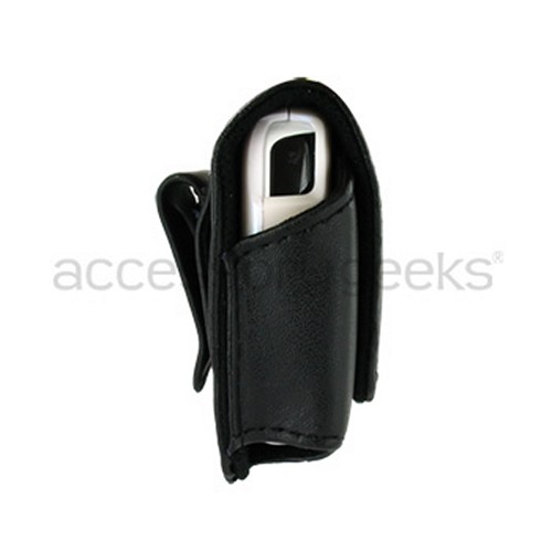 Premium Horizontal Holster Pouch for Thin PDA phones - Black