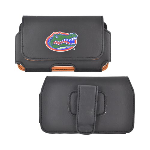 NCAA Licensed Horizontal Leather Holster Pouch w/ Belt Clip - Florida Gators (PUTS)