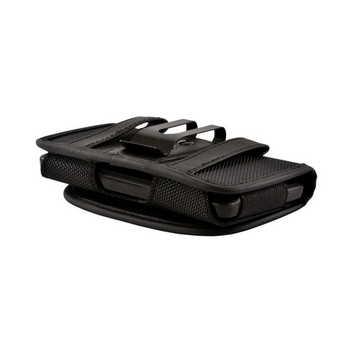 Black Universal Nylon Horizontal Pouch w/ Velcro Closure & Belt Clip for iPhone 4/4S Sized Phones (PDAUT)