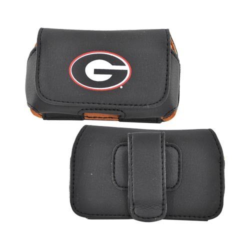 College Georgia Bulldogs Team Horizontal Cell Phone Pouch