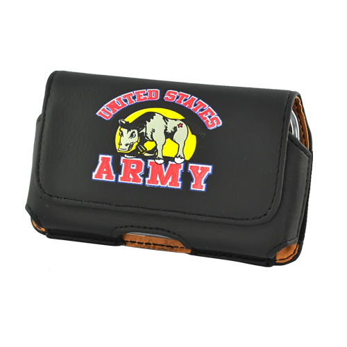 U.S. Army Horizontal Cell Phone Leather Pouch Case (PUT SIZE)