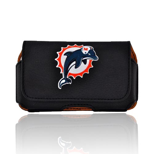 NFL Miami Dolphins Horizontal Holster Pouch (PUT, PUTS, PUTL Size)
