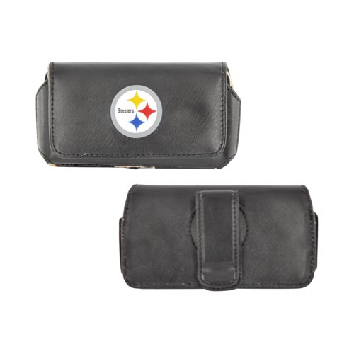 NFL Licensed Universal Pittsburgh Steelers Horizontal Pouch w/ Magnetic Closure & Belt Clip (PUT)